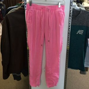 Lilly Pulitzer Pink Linen Pants Size small
